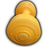 STAMINA 2x Plastic Dumbbell 1kg [ST-800-1CYL] - Yellow - Barbell / Dumbbell